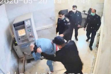 Images released by hackers show guards beating a prisoner in Iran. FILE PHOTO