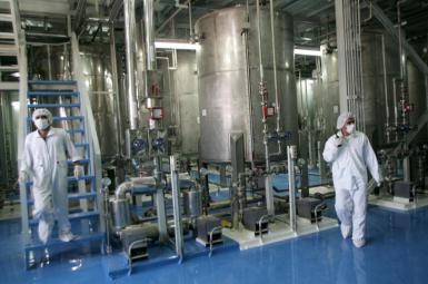 A uranium enrichment facility in Iran. Undated