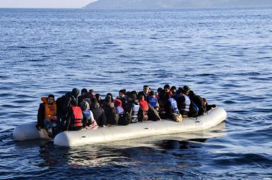 غرق شدن قایق پناهجویان در سواحل یونان