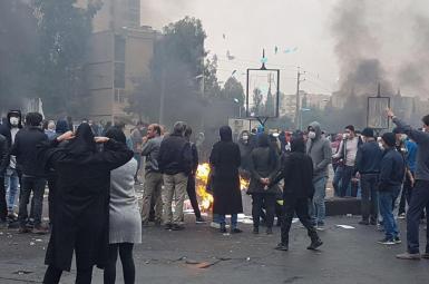 A scene from Iran protests in November 2019. FILE