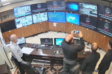 Iranian hackers published this photo of the control room in Evin prison, August 22, 2021