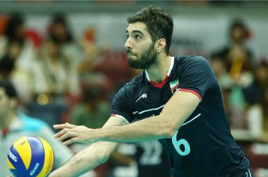 محمد موسوی بلندزن تیم ملی والیبال ایران