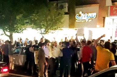 Protest in Karaj city, west of Tehran. July 26, 2021