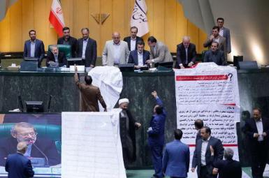 Iran parliament members showing opposition to FATFA bills. Undated