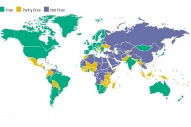 نقشه آزادی در جهان ۲۰۱۹ (گزارش Freedom House)