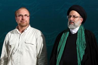 Parliament speaker Mohammad Ghalibaf and President-elect Ebrahim Raisi. FILE