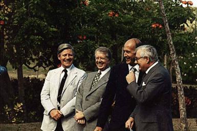 سران چهار کشور آمریکا، انگلستان، فرانسه و آلمان غربی در کنفرانس گوادلوپ