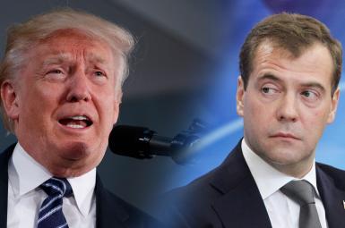دیمیتری مدودف و دوناد ترامپ