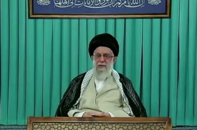 Ali Khamenei in a televised speech to ask the voters to turn to vote on June 18. June 16, 2021