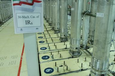 An Iranian uranium enrichment facility with centrifuges. FILE