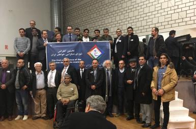 تعدادی از رهبران احزاب قومی در نخستین کنفرانس شورای دمکراسیخواهان ایران