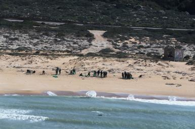Israel's beaches blackened by tar after offshore oil spill. February 22, 2021