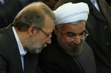 حسن روحانی  و علی لاریجانی
