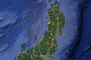 زلزلهای با قدرت ۵/۳ ریشتر، در شمال ژاپن
