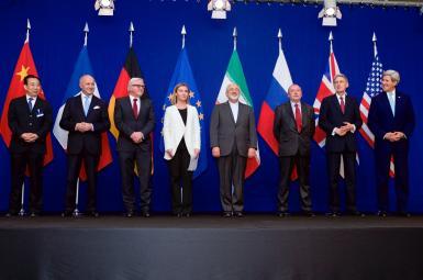 وزرای خارجه گروه ۵+۱ به همراه وزیر خارجه ایران و مسئول سیاست خارجی اتحادیه اروپا