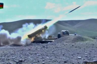 Photo from Azerbaijani defense ministry during war with Armenia. September 30, 2020