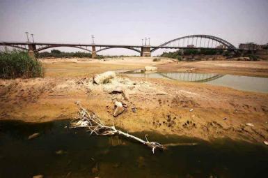 Iran's Karoun River amid drought and water shortage. FILE