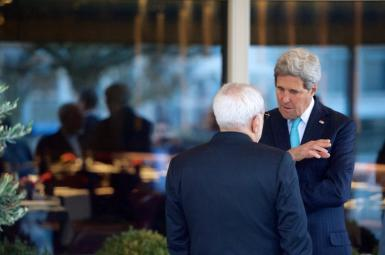 Former US Secretary of State John Kerry and Iran's Foreign Minister Javad Zarif. FILE