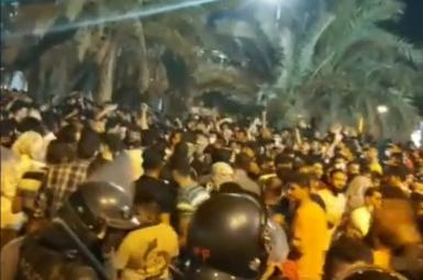 Protests in Khuzestan and the presence of riot police. July 17, 2021