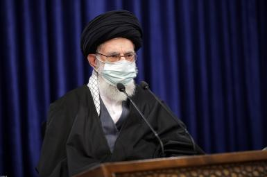 Iran Supreme Leader speaking on TV. January 8, 2021