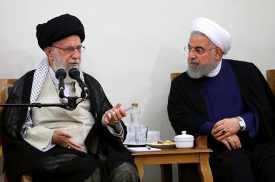 Supreme Leader Ali Khamenei and President Hassan Rouhani. File photo