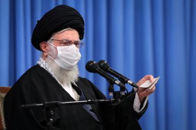 Iran Supreme Leader Ali Khamenei during a speech. December 16, 2020