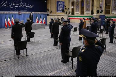 Iran's Supreme Leader Ali Khamenei speaking to Air Force officers. February 7, 2021