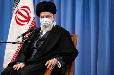 Ali Khamenei speaks at a meeting in Tehran. February 22, 2021