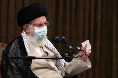 Iran's Supreme Leader Ali Khamenei speaking to top government officials. July 28, 2021