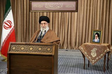 Iran's Supreme Leader Ali khamenei delivering a speech. March 11, 2021