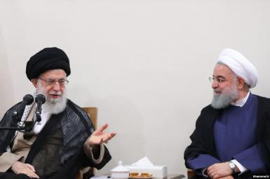 Supreme Leader Ali Khamenei and Hassan Rouhani. FILE PHOTO