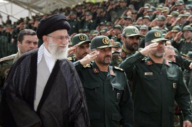 Iran's Supreme Leader seen with IRGC troops. Undated. FILE PHOTO