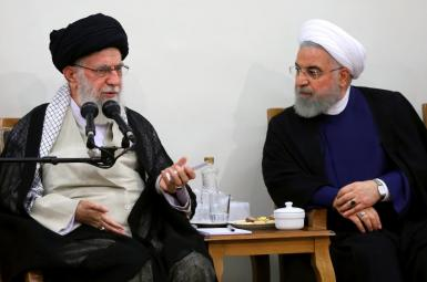 Iran's Supreme Leader Ali Khamenei and President Hassan Rouhani. Undated