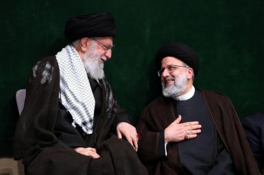 Iran's Supreme Leader Ali Khamenei (L) and new President Ebrahim Raisi. FILE
