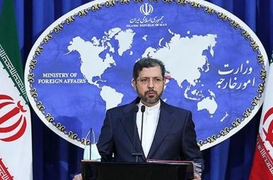 Spokesman of Iran's foreign ministry, Saeed Khatibzadeh. FILE