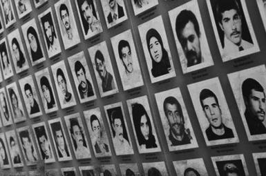 Some of the victims of Iran's prison massacre in 1988. FILE