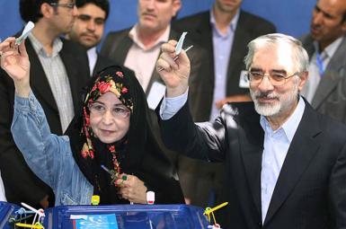 میرحسین موسوی و زهرا رهنورد در انتخابات ریاستجمهوری ۸۸