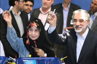 زهرا رهنورد و میرحسین موسوی