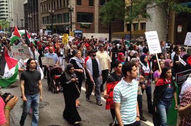 راهپیمایی در لندن برای پشتیبانی از حقوق ملت فلسطین