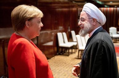 German Chncellor Angela Merkel and Iranian President Hassan Rouhani. FILE PHOTO