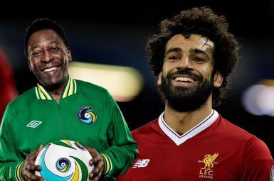 محمد صالح و اسطوره فوتبال برزیل پله