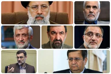 Seven approved candidates for Iran's tightly managed presidential poll. FILE