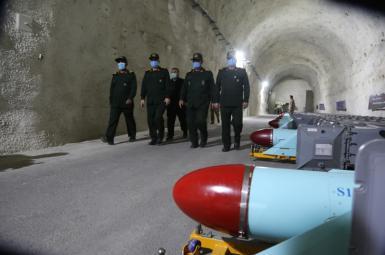 An underground missile base revealed by Iran. January 8, 2021
