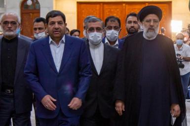 Iran's Ebrahim Raisi with his top aides. August 9, 2021