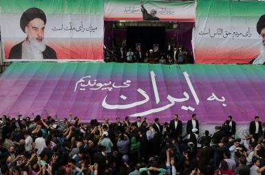 حسن روحانی در همایش انتخاباتی مشهد