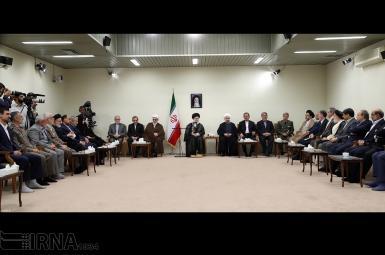 دیدار رئیسجمهوری و اعضای هیأت دولت با رهبر جمهوری اسلامی ایران