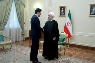 بارزانی در دیدار با روحانی بر حل مشکلات از طریق قانون اساسی عراق تاکید کرد