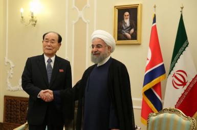 حسن روحانی، رییس جمهوری ایران و مرد شماره ۲ کرهشمالی