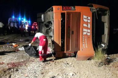 سانحه واژگونی اتوبوس دانش آموزان هرمزگانی