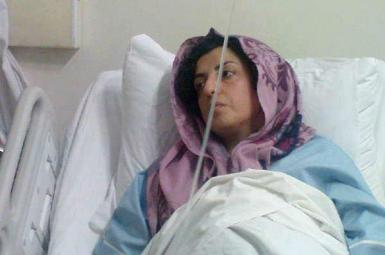 Narges Mohammadi in hospital during her incarceration. May 15, 2019